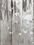 White fading deck with loose paint chips Royalty Free Stock Photography