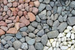 Backyard decorated with stones Stock Photos