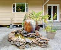 Backyard decoreted  porch Stock Photos