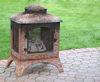 Backyard Fireplace Stock Images