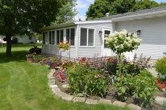 Backyard flower garden. Stock Image