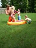 Backyard Fun Stock Photo