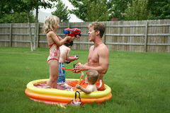 Backyard Fun Royalty Free Stock Image
