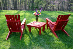Backyard furniture Royalty Free Stock Images