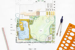Backyard garden  plan. Stock Images
