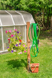 Backyard gardening equipment Royalty Free Stock Photos