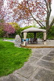 Backyard with gazebo and deck Royalty Free Stock Photos