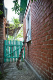 Backyard of a house in the Russian provinces Stock Photo