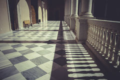 Backyard, Indoor palace, Alcazar de Toledo, Spain Royalty Free Stock Photos