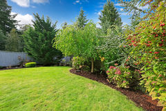 Backyard landscape design Royalty Free Stock Image