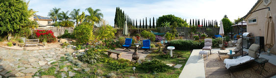 Backyard Landscape Panorama Stock Photography