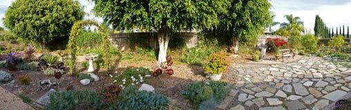 Backyard Landscape Panorama Stock Photo