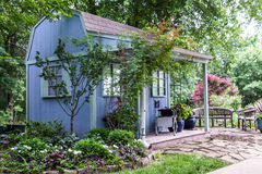 Backyard Landscaping Garden Shed Royalty Free Stock Photography