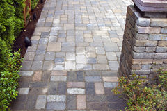 Backyard Landscaping with Pavers Royalty Free Stock Image