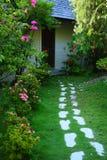 Backyard at Maldives island Stock Photo