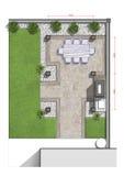Backyard master plan, 2d sketch Stock Photos