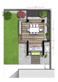 Backyard master plan, 2d sketch Stock Images