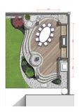 Backyard master plan, 2d sketch Stock Image