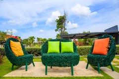 Backyard Patio in Garden. Outdoor royalty free stock photo