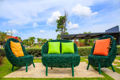 Backyard Patio in Garden Royalty Free Stock Photo