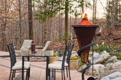 Backyard Patio Setting Royalty Free Stock Photos