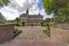 Backyard of the Peace Palace. Garden of the Peace Palace Seat of the International Court of Justice, principal organ of the United Nations located in The Hague Royalty Free Stock Images