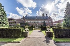 Backyard of the Peace Palace. Garden of the Peace Palace Seat of the International Court of Justice, principal organ of the United Nations located in The Hague Royalty Free Stock Photos
