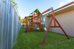 Backyard play set Stock Photography