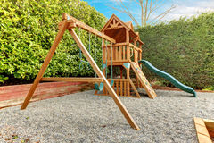 Backyard playground for kids Stock Image