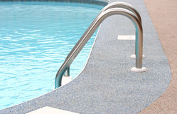 Backyard Pool. A refreshing backyard pool in summer Stock Image