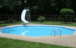 Backyard Pool Royalty Free Stock Photography