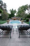 Backyard Pool House Royalty Free Stock Photos