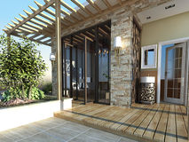 Backyard porch Royalty Free Stock Photography