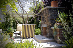 Backyard Relax. The backyard of a Californian house on a sunny day Royalty Free Stock Photos