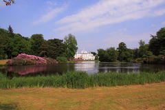 Backyard of royal palace Soestdijk Royalty Free Stock Photography