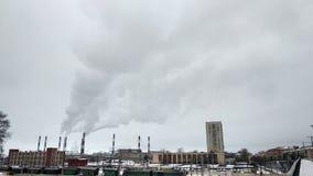 Clouds and smoke stock image