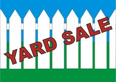 BackYard Sale Royalty Free Stock Images
