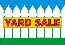 BackYard Sale Yellow Royalty Free Stock Photo