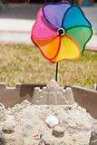 Backyard Sand Castle Royalty Free Stock Photo