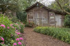 Backyard Shed Stock Photography