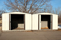 Backyard sheds Royalty Free Stock Photography