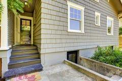 Backyard small porch. House exterior design Stock Photos
