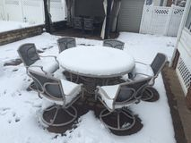 Backyard Snow Stock Photography