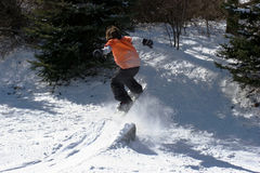 Backyard Snowboarding Stock Photos