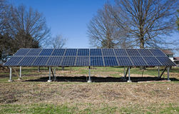 Backyard Solar Panels Stock Images