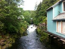 Backyard  Stream Royalty Free Stock Images
