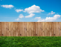 Backyard in summer. Planks in backyard in summer Royalty Free Stock Photos