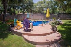 Backyard Swimming Pool Royalty Free Stock Photography