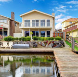 Backyard view from dock Royalty Free Stock Photography