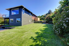 Backyard view. Landscaping idea Stock Photography